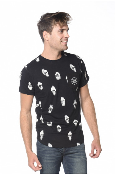 Tee Shirt print all-over Metric