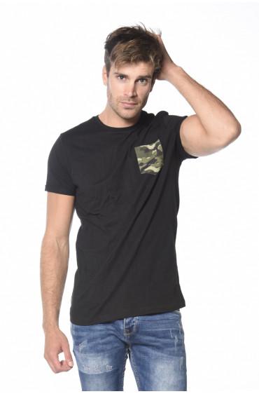 Tee Shirt poche contrastée Talk