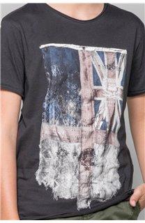 T-Shirt FLAGY Garçon S18160B (33569) - DEELUXE