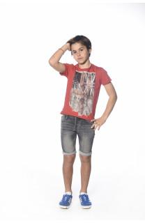 T-Shirt FLAGY Garçon S18160B (33575) - DEELUXE