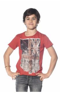 T-Shirt FLAGY Garçon S18160B (33576) - DEELUXE