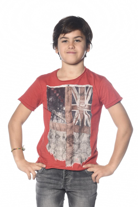 T-Shirt T-SHIRT FLAGY Garçon S18160B (33576) - DEELUXE