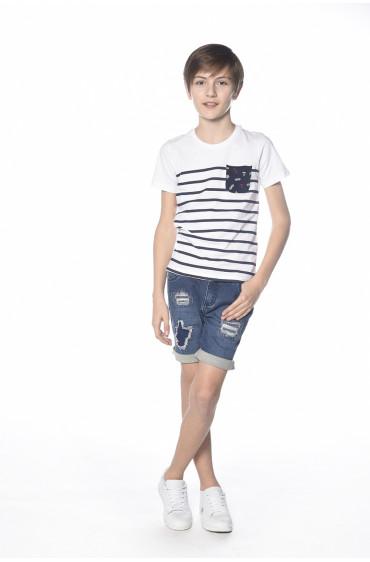 T-shirt rayé Marin