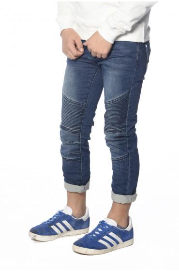 Jeans avec empiècements aux genoux Biker
