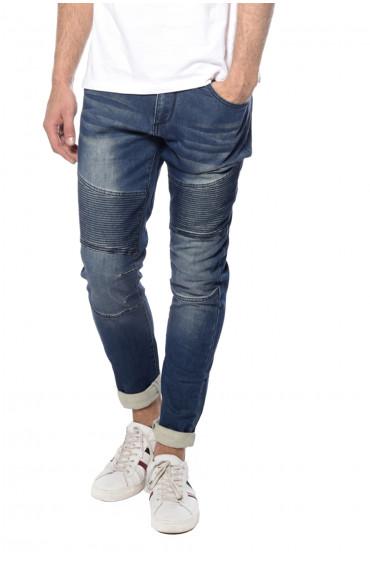 Jeans avec empiècements genoux Biker