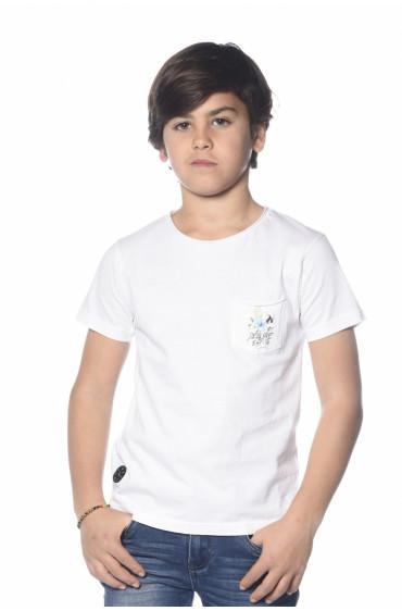 T-shirt dos imprimé Skool