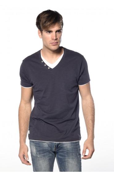 T-shirt double col avec boutons fantaisie Legend