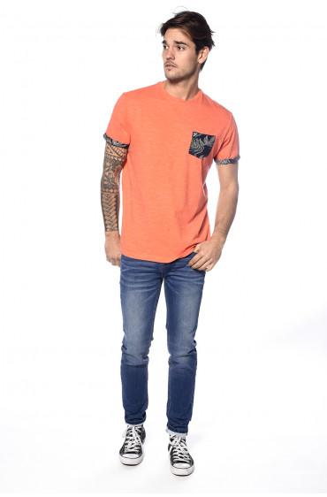 T-shirt poche et revers fantaisie Shamar