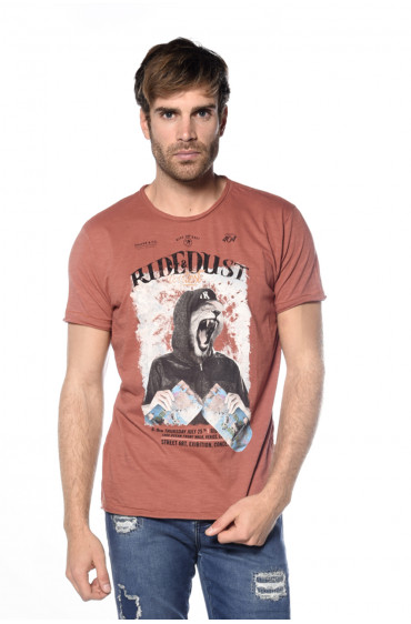 T-shirt print animalier Streetlion