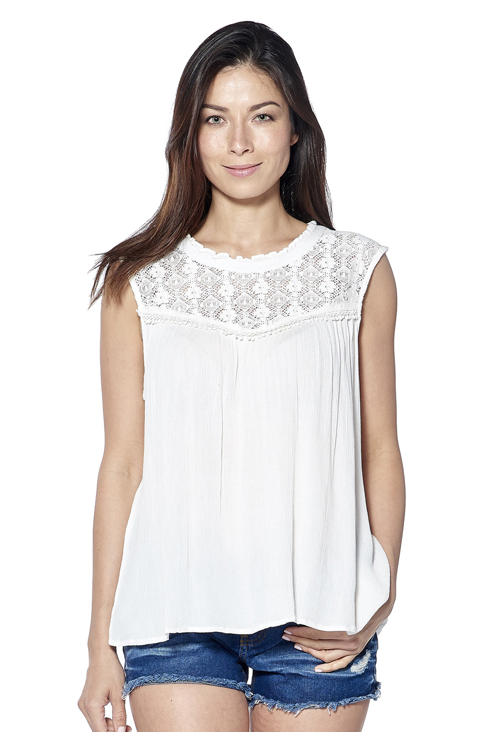 Blouses Dentelle NadineAvec Blouse Outlet Deeluxe mbIY7y6gvf
