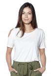 T-shirt épaules fantaisie Irina