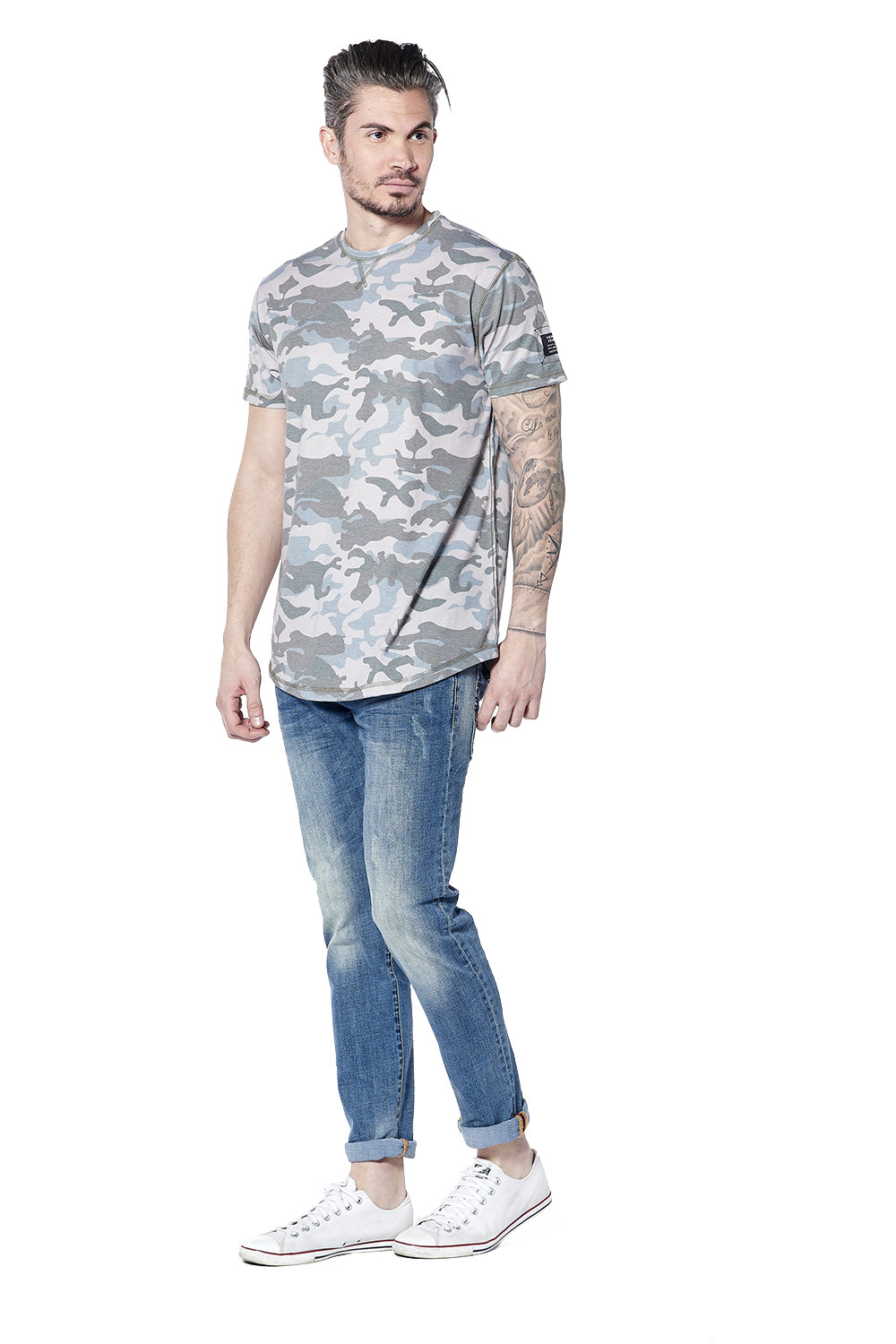 T-shirt camouflage Scars