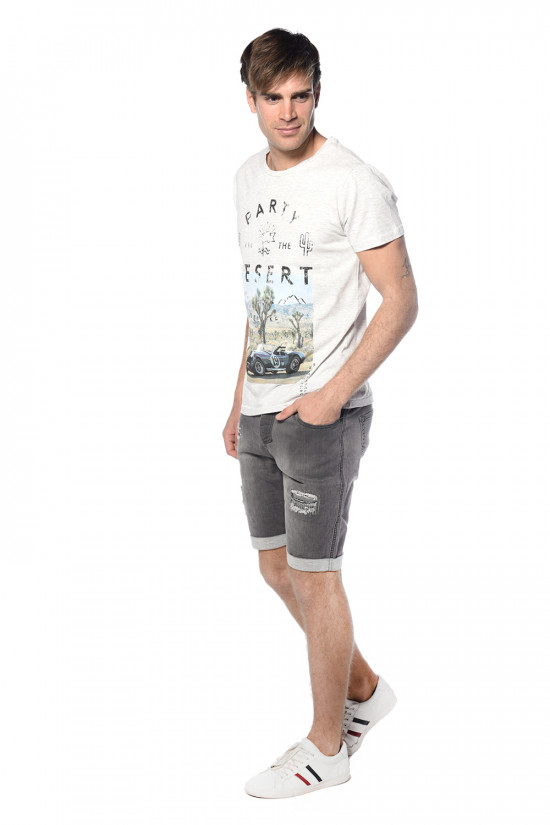 Deeluxe Short en denim destroy Bullet