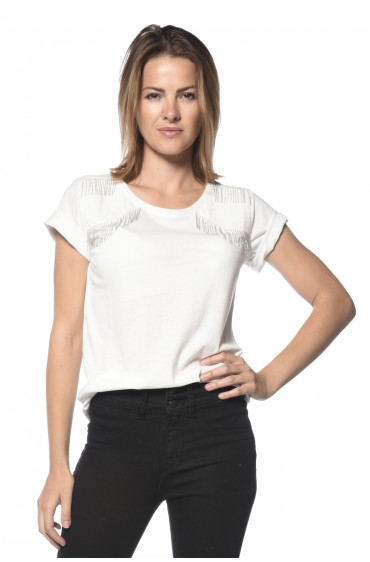 Deeluxe T-shirt avec chaines fantaisie aux épaules Foryou