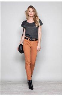 T-Shirt T-SHIRT GLITTER Femme W18113W (37373) - DEELUXE