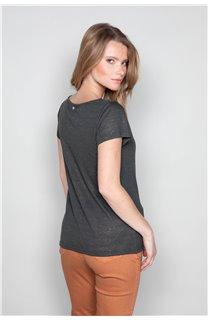 T-Shirt T-SHIRT GLITTER Femme W18113W (37374) - DEELUXE