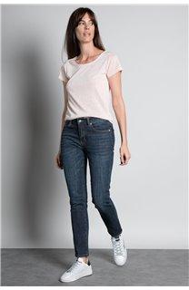 T-Shirt T-SHIRT GLITTER Femme W18113W (37380) - DEELUXE