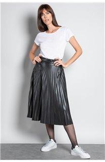 T-Shirt T-SHIRT GLITTER Femme W18113W (37382) - DEELUXE