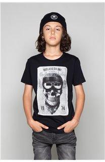 T-Shirt T-SHIRT CLEM Garçon W18124B (37619) - DEELUXE