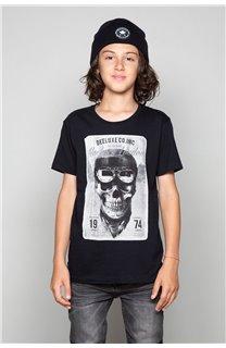 T-Shirt T-SHIRT CLEM Garçon W18124B (37620) - DEELUXE