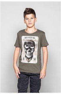 T-Shirt T-SHIRT CLEM Garçon W18124B (37623) - DEELUXE