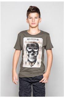T-Shirt T-SHIRT CLEM Garçon W18124B (37624) - DEELUXE