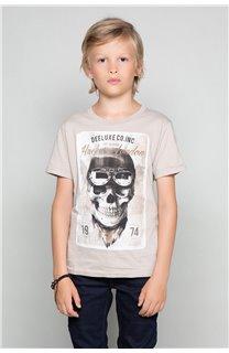 T-Shirt T-SHIRT CLEM Garçon W18124B (37629) - DEELUXE