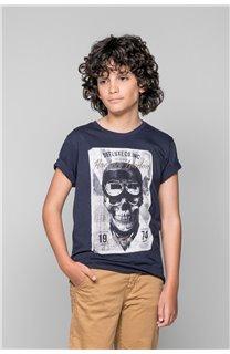 T-Shirt T-SHIRT CLEM Garçon W18124B (37634) - DEELUXE