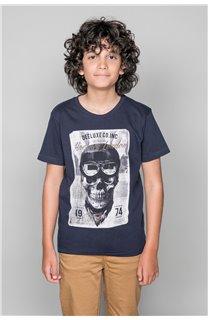 T-Shirt T-SHIRT CLEM Garçon W18124B (37635) - DEELUXE