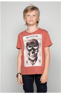 T-Shirt T-SHIRT CLEM Garçon W18124B (37639) - DEELUXE