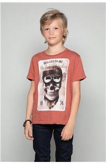 T-Shirt T-SHIRT CLEM Garçon W18124B (37640) - DEELUXE
