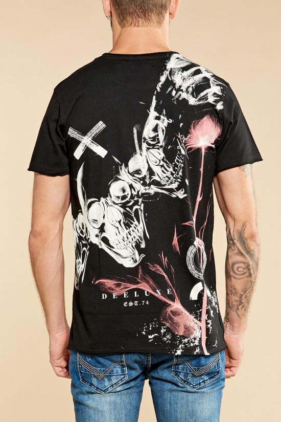 T-Shirt T-SHIRT SKULLFLOWER Homme W18165 (37979) - DEELUXE