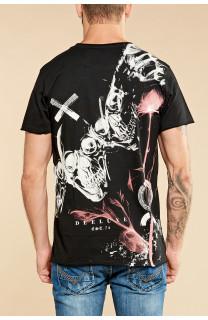 T-Shirt T-SHIRT SKULLFLOWER Homme W18165 (37976) - DEELUXE