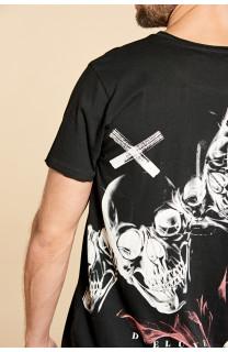 T-Shirt T-SHIRT SKULLFLOWER Homme W18165 (37977) - DEELUXE