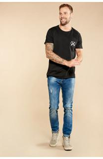 T-Shirt T-SHIRT SKULLFLOWER Homme W18165 (37978) - DEELUXE