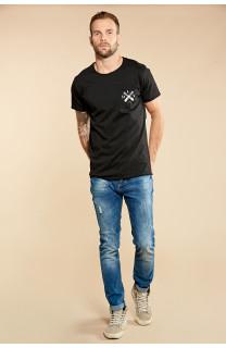 T-Shirt T-SHIRT SKULLFLOWER Homme W18165 (37980) - DEELUXE