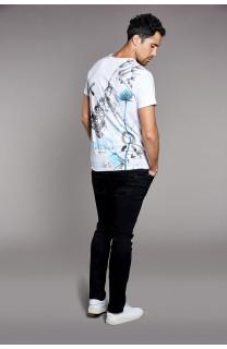 T-Shirt T-SHIRT SKULLFLOWER Homme W18165 (37981) - DEELUXE