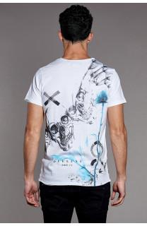 T-Shirt T-SHIRT SKULLFLOWER Homme W18165 (37983) - DEELUXE