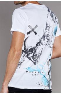 T-Shirt T-SHIRT SKULLFLOWER Homme W18165 (37984) - DEELUXE