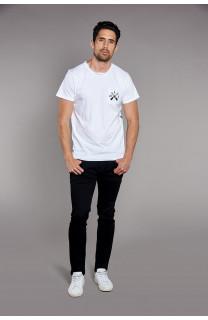 T-Shirt T-SHIRT SKULLFLOWER Homme W18165 (37985) - DEELUXE