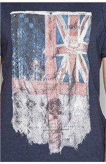 T-Shirt FLAGY Homme W18160 (38110) - DEELUXE