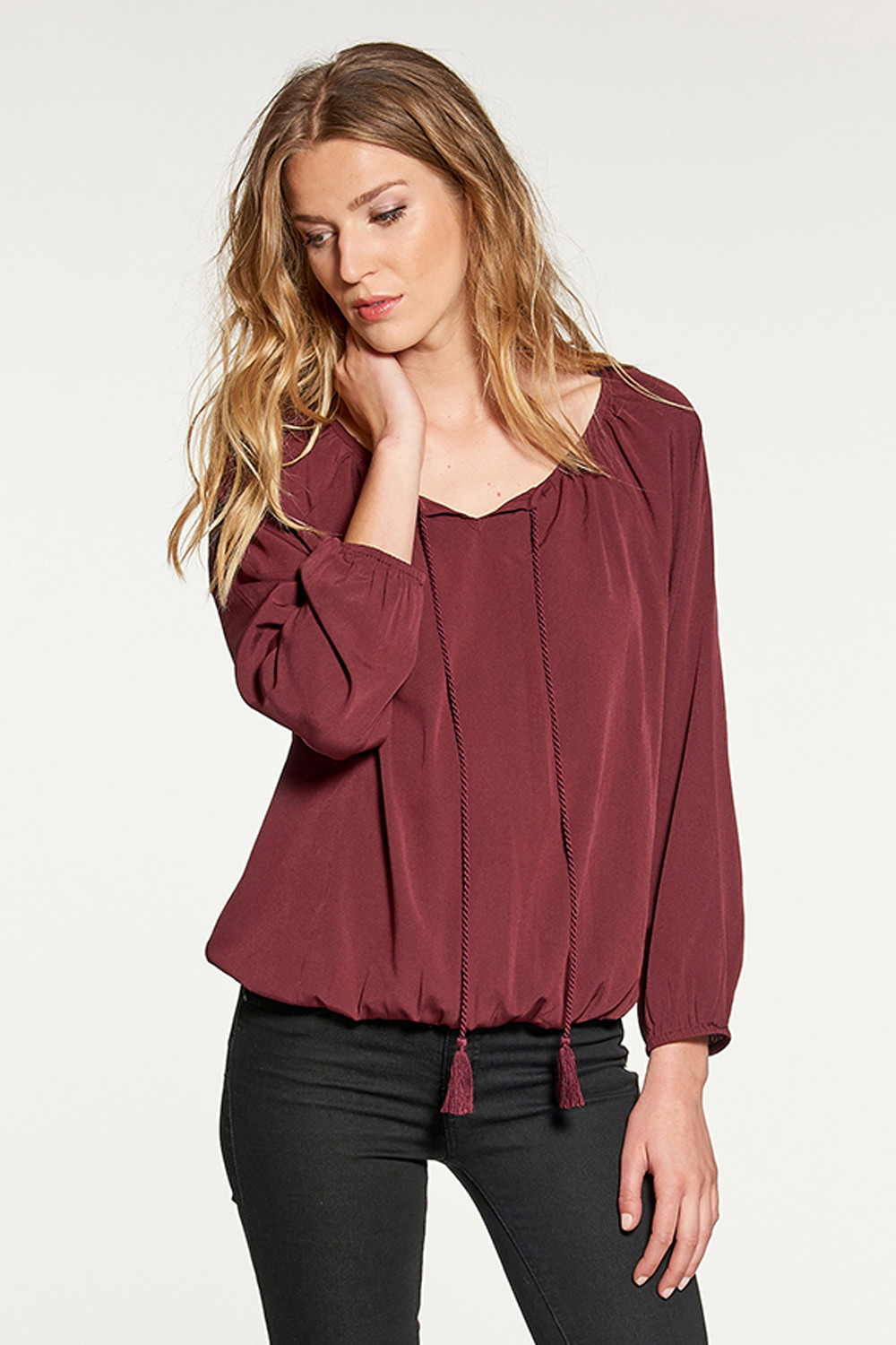 Blouse LUPITA - Couleur - Dark Red, Taille - XS
