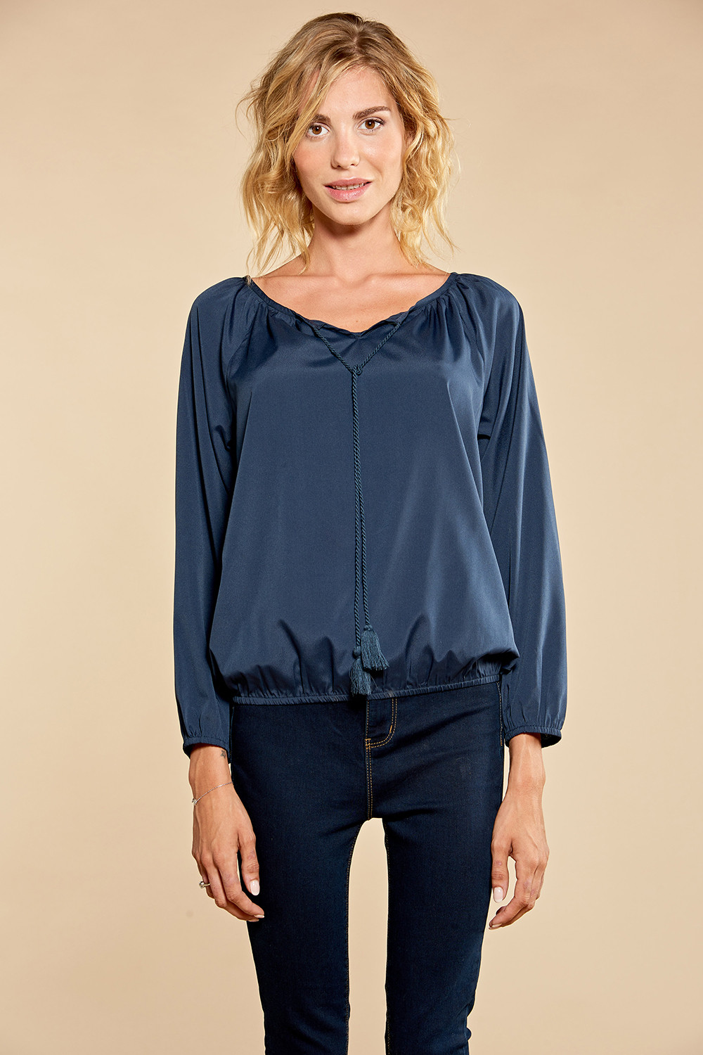 Blouse LUPITA - Couleur - Navy, Taille - XS