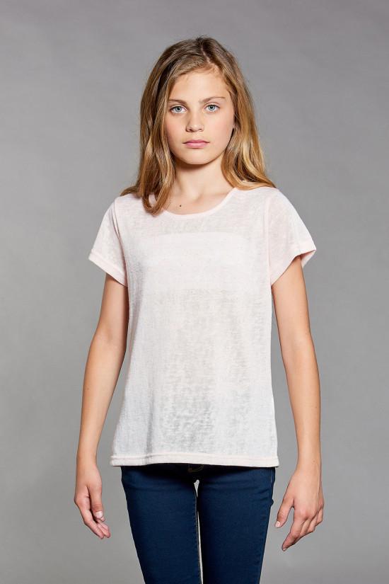 T-Shirt GLITTER Fille W18113G (41423) - DEELUXE