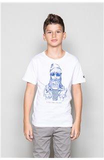 T-Shirt TELLIER Garçon W18116B (39455) - DEELUXE