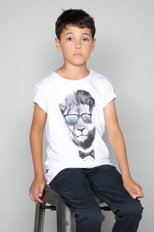 T-Shirt T-Shirt LIONMAN Garçon W18135B (39500) - DEELUXE