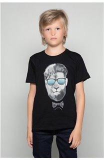 T-Shirt T-Shirt LIONMAN Garçon W18135B (39503) - DEELUXE
