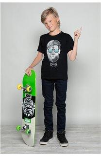 T-Shirt T-Shirt LIONMAN Garçon W18135B (39505) - DEELUXE