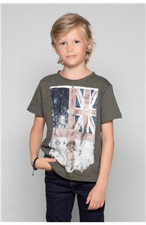 T-Shirt FLAGY Garçon W18160B (39536) - DEELUXE