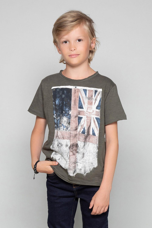 T-Shirt T-SHIRT FLAGY Garçon W18160B (39536) - DEELUXE